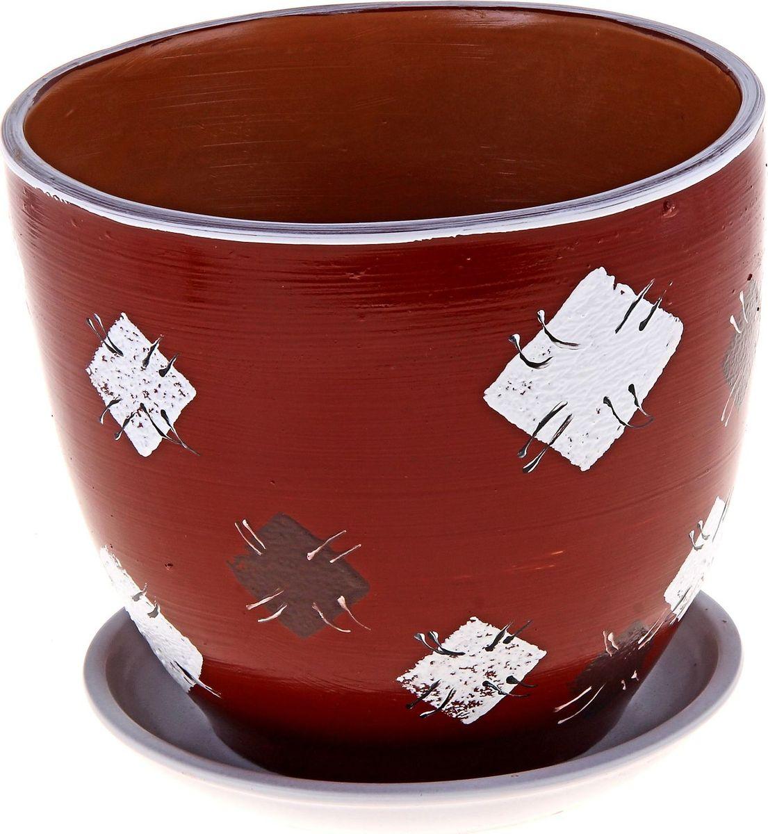 """Декоративное кашпо """"Лоскуток"""", выполненное из высококачественной керамики, предназначено для посадки декоративных растений и станет прекрасным украшением для дома. Благодаря своему дизайну впишется в любой интерьер помещения."""