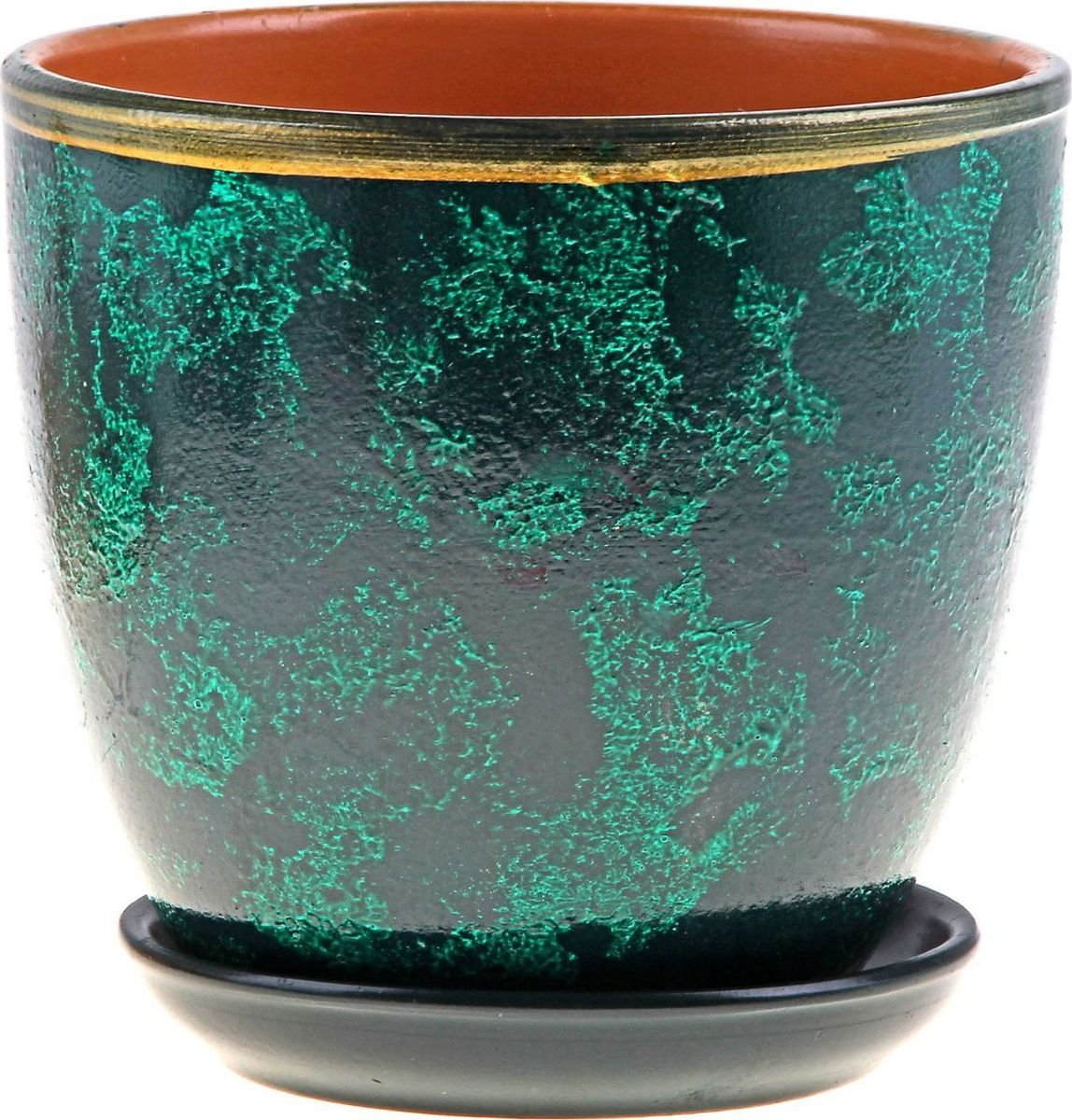 Кашпо Бархат, цвет: зеленый, 2,5 л164892