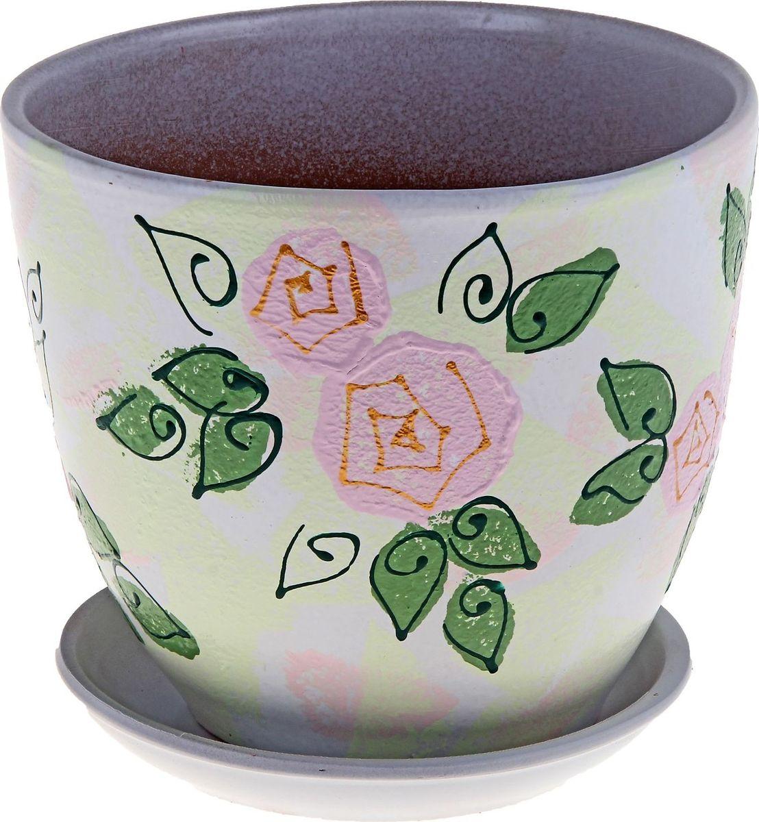 Кашпо Роза, 5 л164915Декоративное кашпо Роза, выполненное из высококачественной керамики, предназначено для посадки декоративных растений и станет прекрасным украшением для дома. Благодаря своему дизайну впишется в любой интерьер помещения.