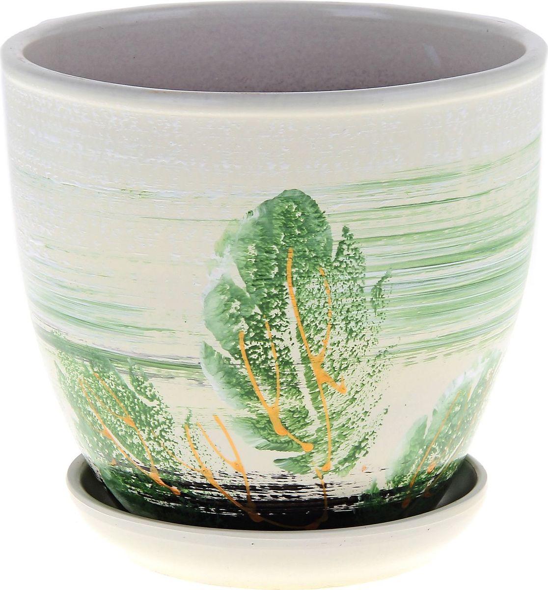 Кашпо Клен, цвет: зеленый, 2,5 л164924Комнатные растения — всеобщие любимцы. Они радуют глаз, насыщают помещение кислородом и украшают пространство. Каждому из них необходим свой удобный и красивый дом. Кашпо из керамики прекрасно подходят для высадки растений: за счёт пластичности глины и разных способов обработки существует великое множество форм и дизайновпористый материал позволяет испаряться лишней влагевоздух, необходимый для дыхания корней, проникает сквозь керамические стенки! #name# позаботится о зелёном питомце, освежит интерьер и подчеркнёт его стиль.
