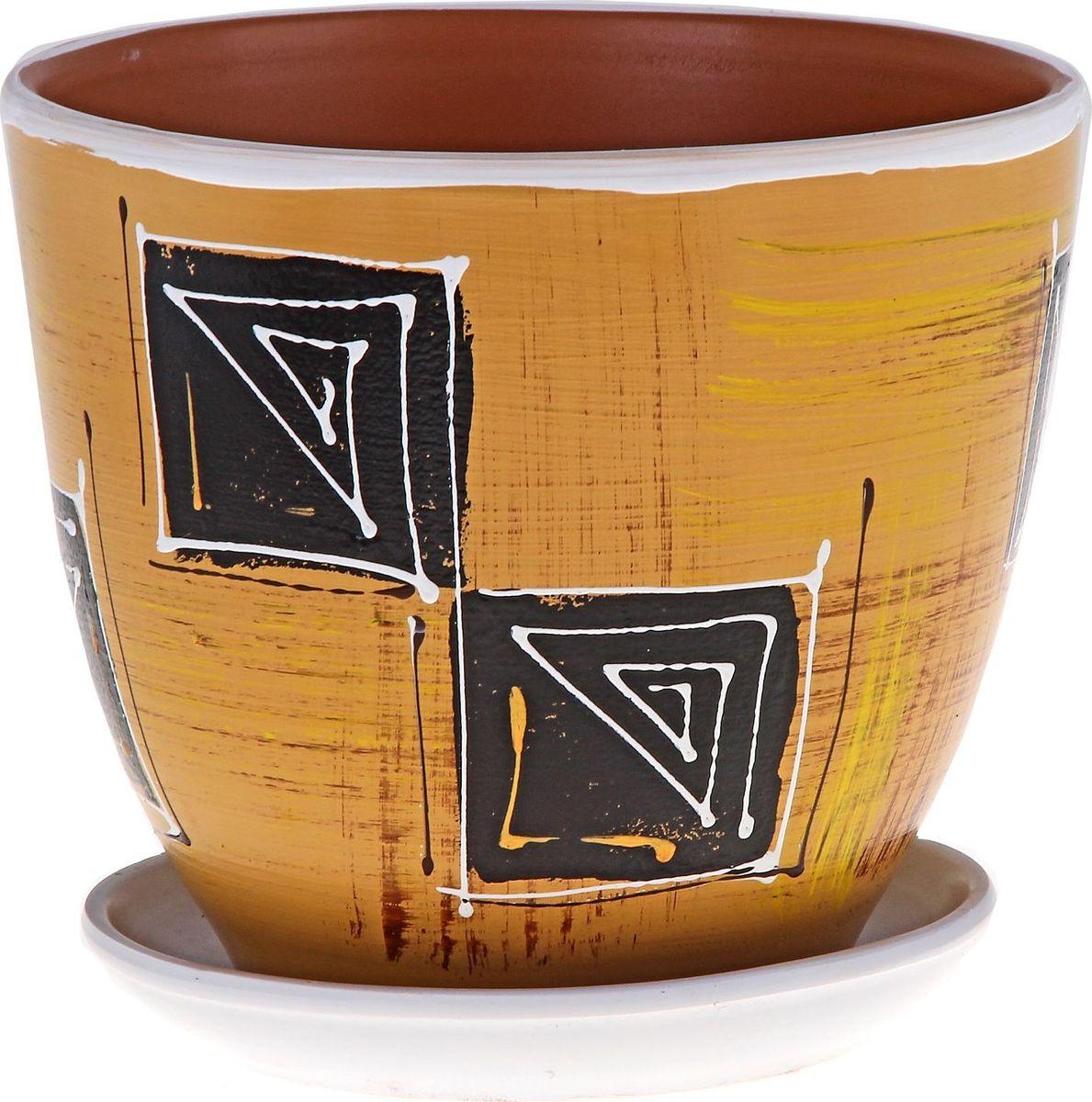 Кашпо Гиацинт, цвет: коричневый, 5 л164935