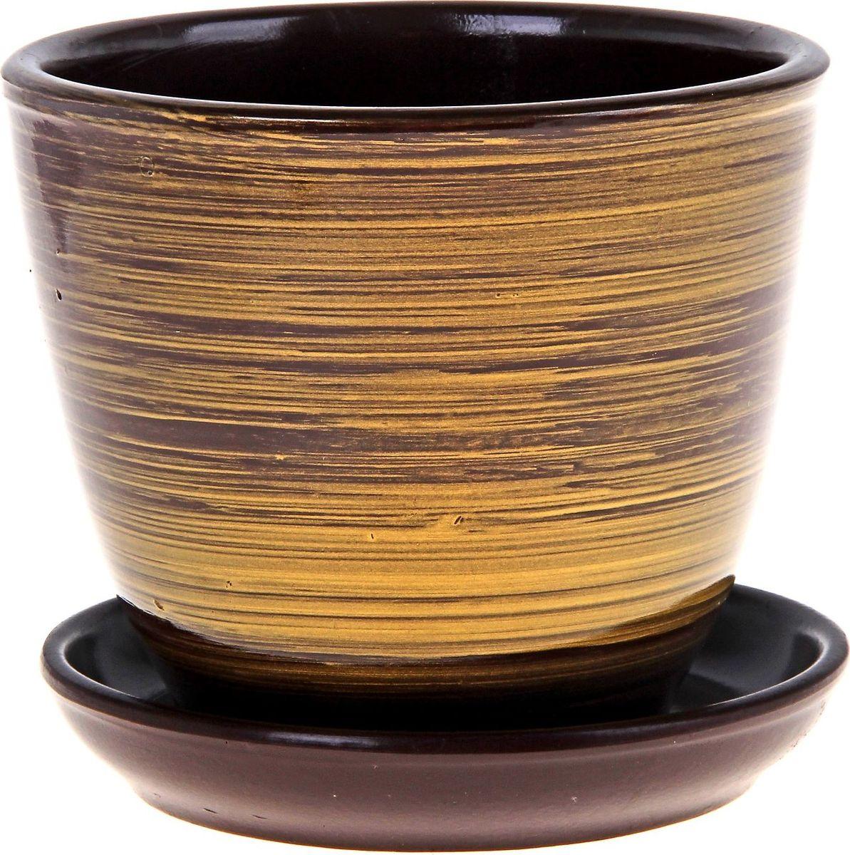 Кашпо Саванна, 1 л164957Комнатные растения — всеобщие любимцы. Они радуют глаз, насыщают помещение кислородом и украшают пространство. Каждому из них необходим свой удобный и красивый дом. Кашпо из керамики прекрасно подходят для высадки растений: за счёт пластичности глины и разных способов обработки существует великое множество форм и дизайновпористый материал позволяет испаряться лишней влагевоздух, необходимый для дыхания корней, проникает сквозь керамические стенки! #name# позаботится о зелёном питомце, освежит интерьер и подчеркнёт его стиль.