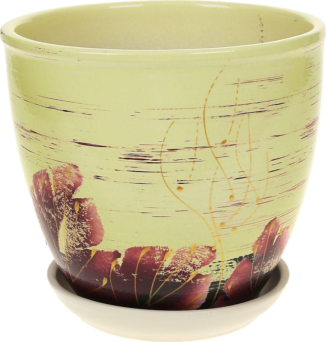 Кашпо Клен, цвет: сиреневый, 2,5 л164964