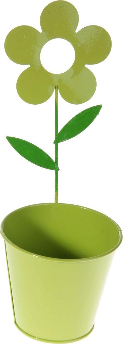 Кашпо Цветок, настенное, цвет: салатовый, 10 х 10 х 28 см232852Комнатные растения — всеобщие любимцы. Они радуют глаз, насыщают помещение кислородом и украшают пространство. Каждому из растений необходим свой удобный и красивый дом. Металлические декоративные вазы для горшков практичны и долговечны. #name# позаботится о зелёном питомце, освежит интерьер и подчеркнёт его стиль. Особенно выигрышно они смотрятся в экстерьере: на террасах и в беседках. При желании его всегда можно перекрасить в другой цвет.