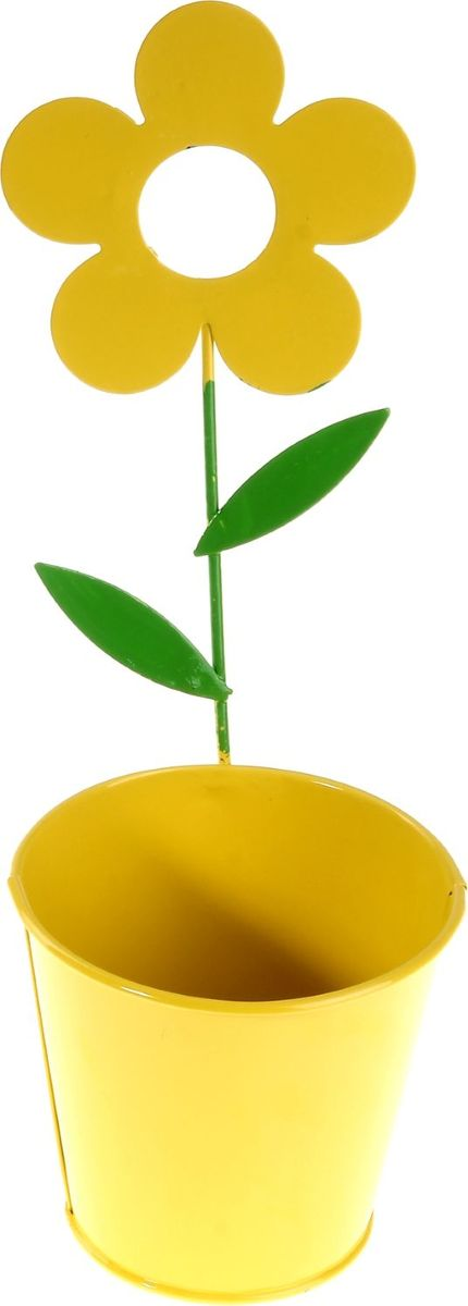 Кашпо Цветок, настенное, цвет: желтый, 10 х 10 х 28 см232853Комнатные растения — всеобщие любимцы. Они радуют глаз, насыщают помещение кислородом и украшают пространство. Каждому из растений необходим свой удобный и красивый дом. Металлические декоративные вазы для горшков практичны и долговечны. #name# позаботится о зелёном питомце, освежит интерьер и подчеркнёт его стиль. Особенно выигрышно они смотрятся в экстерьере: на террасах и в беседках. При желании его всегда можно перекрасить в другой цвет.