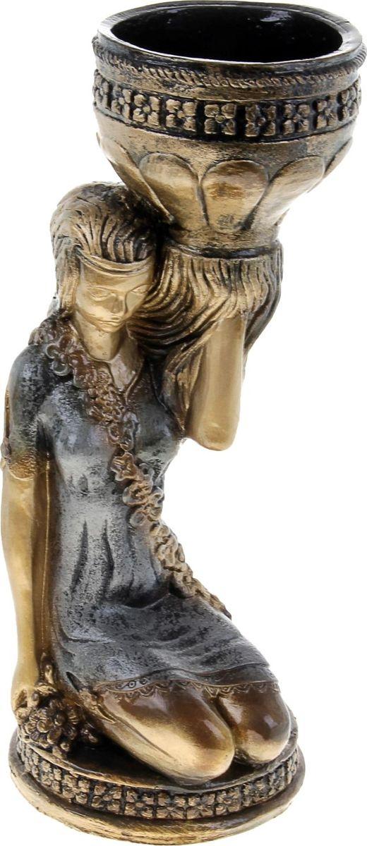 Кашпо Сидящая девушка, цвет: бронзовый, 23 х 26 х 60 см302969