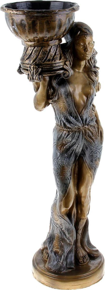 Кашпо Восточная красавица, цвет: бронзовый, 26 х 35 х 97 см302972