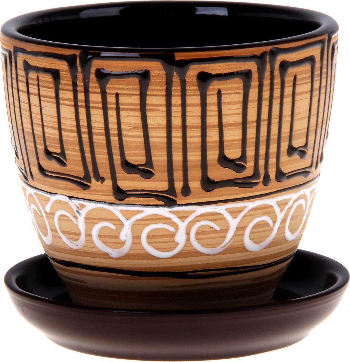 Кашпо Египет, 1 л332450Декоративное кашпо, выполненное из высококачественной керамики, предназначено для посадки декоративных растений и станет прекрасным украшением для дома. Благодаря своему дизайну впишется в любой интерьер помещения.