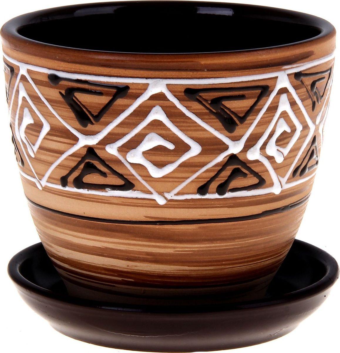 Кашпо Сузорье, 1 л332458Декоративное кашпо, выполненное из высококачественной керамики, предназначено для посадки декоративных растений и станет прекрасным украшением для дома. Пористый материал позволяет испаряться лишней влаге, а воздух, необходимый для дыхания корней, проникает сквозь керамические стенки. Такое кашпо украсит окружающее пространство и подчеркнет его оригинальный стиль.