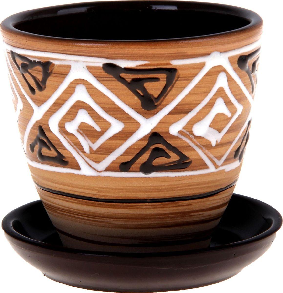 Кашпо Сузорье, 0,4 л332459Декоративное кашпо, выполненное из высококачественной керамики, предназначено для посадки декоративных растений и станет прекрасным украшением для дома. Пористый материал позволяет испаряться лишней влаге, а воздух, необходимый для дыхания корней, проникает сквозь керамические стенки. Такое кашпо украсит окружающее пространство и подчеркнет его оригинальный стиль.