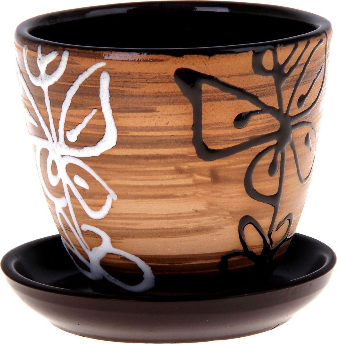 Кашпо Витраж, 0,4 л332463Декоративное кашпо, выполненное из высококачественной керамики, предназначено для посадки декоративных растений и станет прекрасным украшением для дома. Благодаря своему дизайну впишется в любой интерьер помещения.