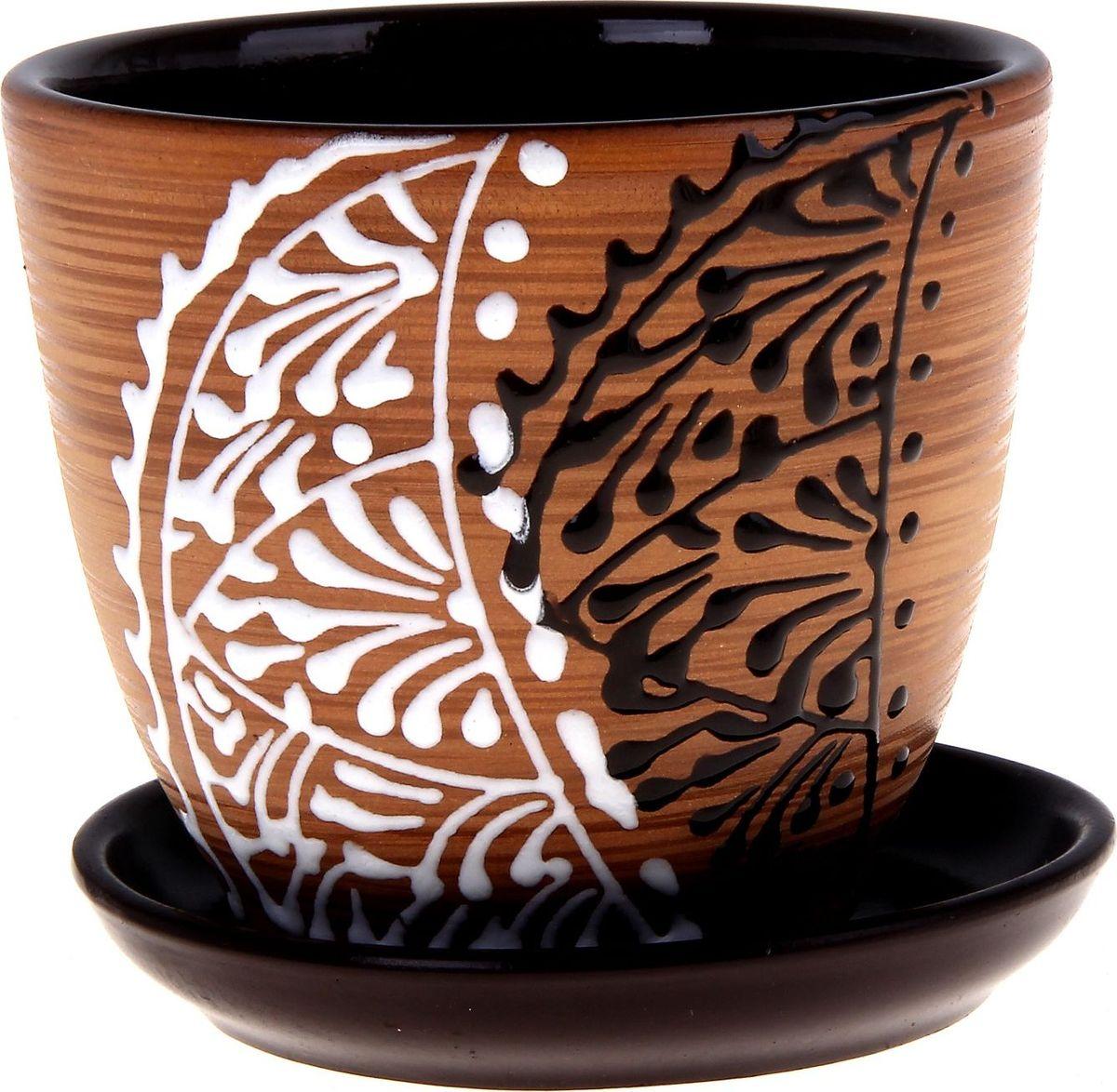 """Декоративное кашпо """"Кружево"""", выполненное из высококачественной керамики, предназначено для посадки декоративных растений и станет прекрасным украшением для дома. Благодаря своему дизайну впишется в любой интерьер помещения."""