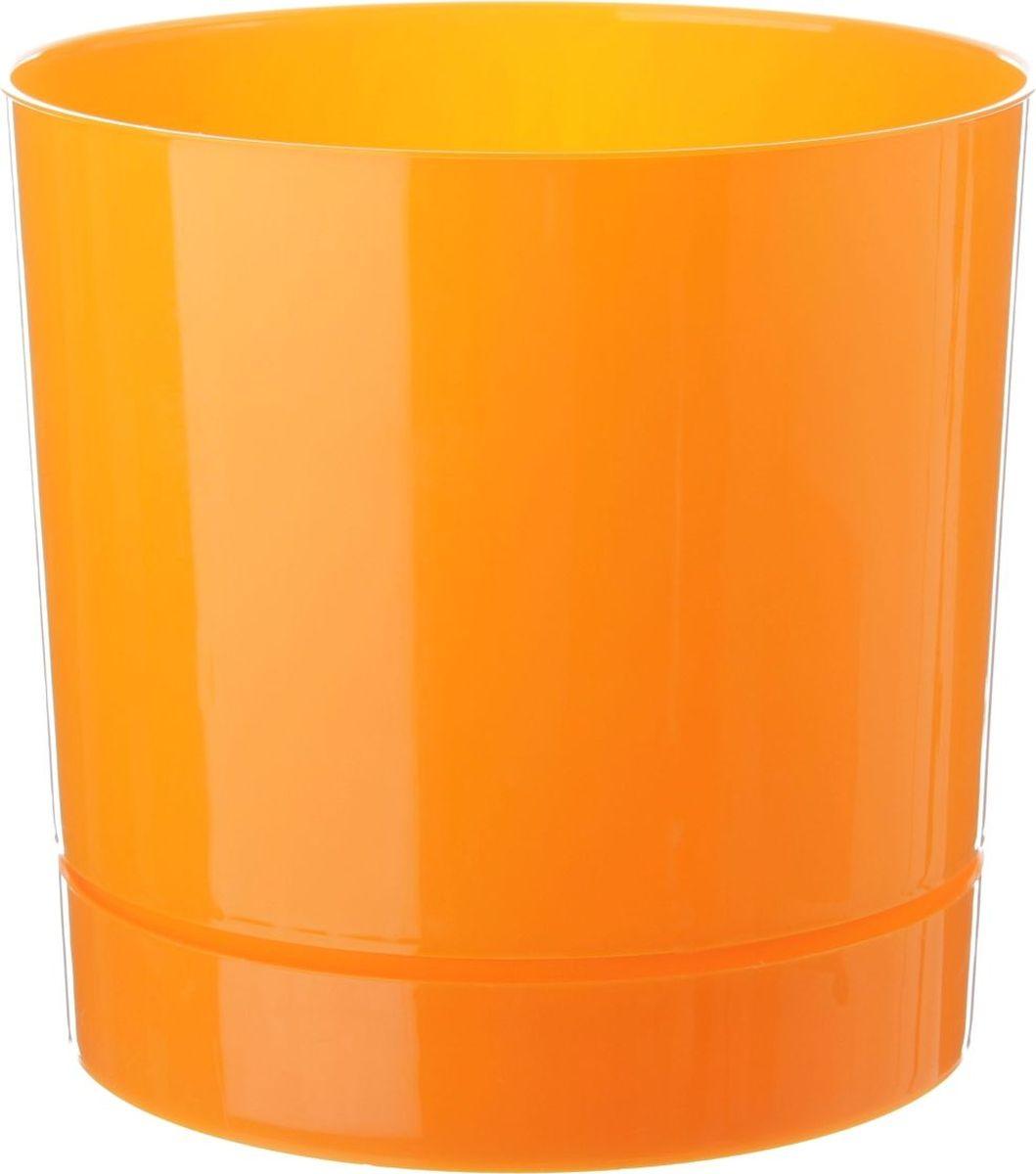 Горшок для цветов VesnaDecor, с поддоном, цвет: оранжевый, 3,6 л519246Любой, даже самый современный и продуманный интерьер будет незавершённым без растений. Они не только очищают воздух и насыщают его кислородом, но и заметно украшают окружающее пространство. Такому полезному члену семьи просто необходимо красивое и функциональное кашпо, оригинальный горшок или необычная ваза!Горшок для цветов VesnaDecor предназначен для выращивания цветов, растений и трав. Он порадует вас функциональностью, а также украсит интерьер помещения.Объем горшка: 3,6 л.