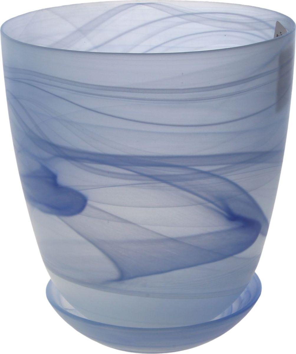 Кашпо NiNaGlass Гармония, матовое, с поддоном, цвет: голубой, 1,2 л607681Декоративное кашпо с поддоном, выполненное из высококачественного стекла, предназначено для посадки декоративных растений и станет прекрасным украшением для дома. Оригинальное кашпо украсит окружающее пространство и подчеркнет его оригинальный стиль.