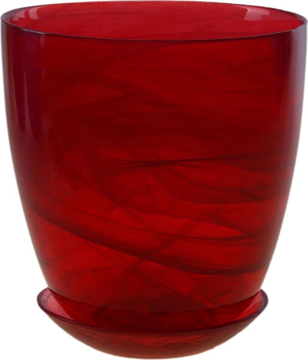 Кашпо NiNaGlass Гармония, с поддоном, цвет: рубиновый, 2 л607696Кашпо с поддоном NiNaGlass Гармония, выполненное из стекла, предназначено для выращивания декоративных растений, цветов и трав. Комнатные растения - всеобщие любимцы. Они радуют глаз, насыщают помещение кислородом и украшают пространство. Каждому цветку необходим свой удобный и красивый дом. Из-за прозрачности стекла такие декоративные кашпо пользуются большой популярностью для выращивания орхидей. Кашпо позаботится о растениях, освежит интерьер и подчеркнет его стиль.