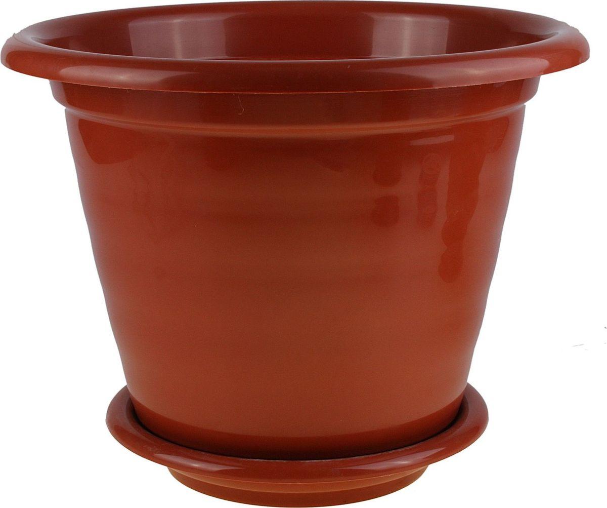 Горшок для цветов Альтернатива Виола, с поддоном, цвет: коричневый, 10 л608316Любой, даже самый современный и продуманный интерьер будет не завершённым без растений. Они не только очищают воздух и насыщают его кислородом, но и заметно украшают окружающее пространство. Такому полезному &laquo члену семьи&raquoпросто необходимо красивое и функциональное кашпо, оригинальный горшок или необычная ваза! Мы предлагаем - Горшок для цветов 10 л Виола, поддон, цвет коричневый!Оптимальный выбор материала &mdash &nbsp пластмасса! Почему мы так считаем? Малый вес. С лёгкостью переносите горшки и кашпо с места на место, ставьте их на столики или полки, подвешивайте под потолок, не беспокоясь о нагрузке. Простота ухода. Пластиковые изделия не нуждаются в специальных условиях хранения. Их&nbsp легко чистить &mdashдостаточно просто сполоснуть тёплой водой. Никаких царапин. Пластиковые кашпо не царапают и не загрязняют поверхности, на которых стоят. Пластик дольше хранит влагу, а значит &mdashрастение реже нуждается в поливе. Пластмасса не пропускает воздух &mdashкорневой системе растения не грозят резкие перепады температур. Огромный выбор форм, декора и расцветок &mdashвы без труда подберёте что-то, что идеально впишется в уже существующий интерьер.Соблюдая нехитрые правила ухода, вы можете заметно продлить срок службы горшков, вазонов и кашпо из пластика: всегда учитывайте размер кроны и корневой системы растения (при разрастании большое растение способно повредить маленький горшок)берегите изделие от воздействия прямых солнечных лучей, чтобы кашпо и горшки не выцветалидержите кашпо и горшки из пластика подальше от нагревающихся поверхностей.Создавайте прекрасные цветочные композиции, выращивайте рассаду или необычные растения, а низкие цены позволят вам не ограничивать себя в выборе.