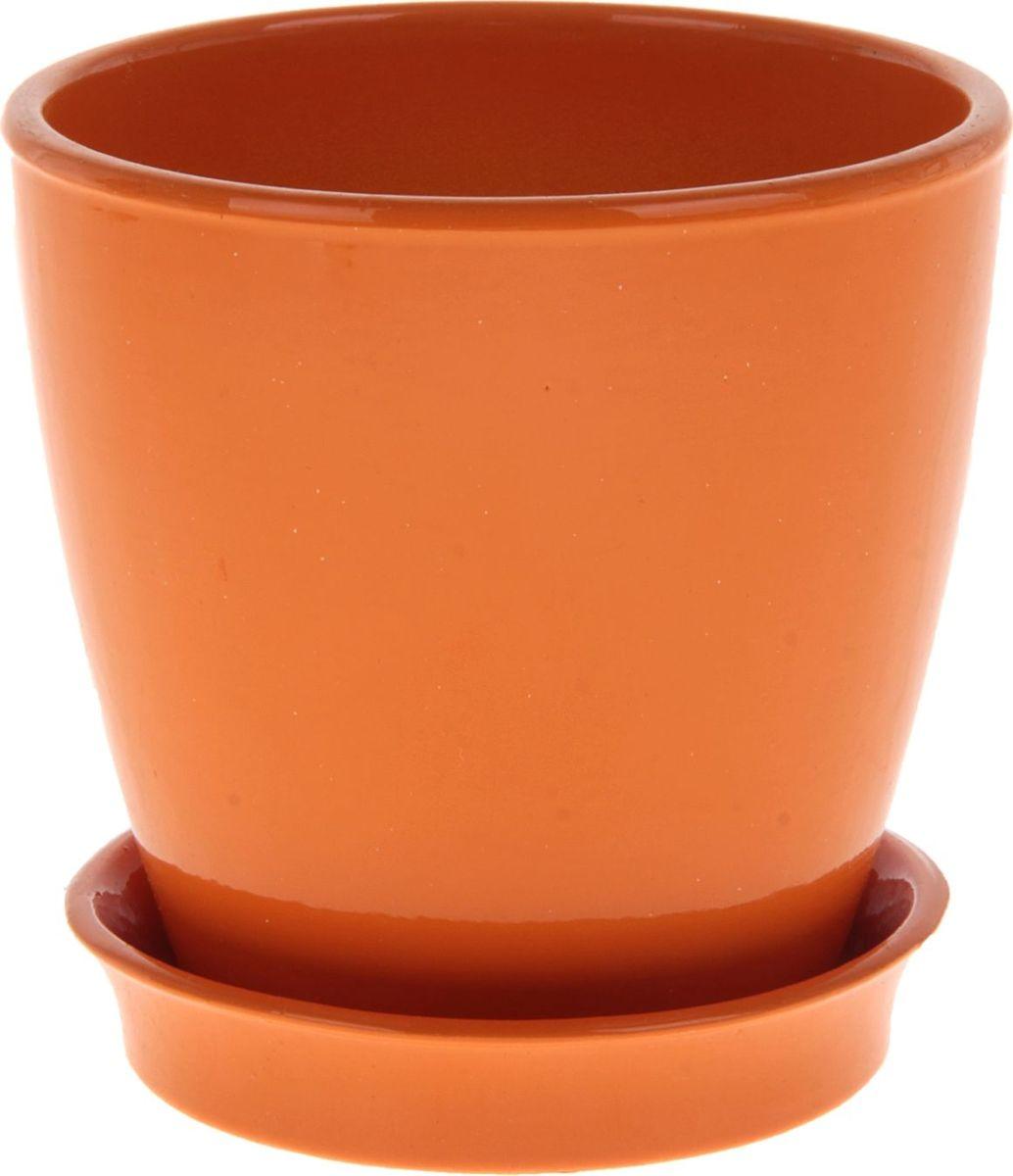Кашпо Керамика ручной работы Виктория, цвет: оранжевый, 0,6 л825103Кашпо серии «Каменный цветок» выполнено из белой глины методом формовки и покрыто лаком. Керамическая емкость имеет объем, оптимальный для создания наилучших условий развития большинства растений. Устойчивый глубокий поддон защитит поверхность стола или подставки от жидкости. Благодаря строгим стандартам производства изделия отличаются правильной формой, отсутствием дефектов, имеют достаточную тяжесть для надежной фиксации конструкции. Окраска моделей не восприимчива к прямым солнечным лучам, а в цветовой гамме преобладают яркие и насыщенные оттенки. Красота, удобство и долговечность кашпо серии «Каменный цветок» порадует любителей высококачественных аксессуаров для комнатных растений.