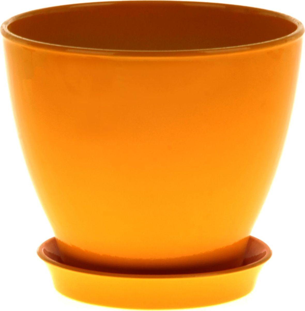 Кашпо Керамика ручной работы Ксения. Глянец, цвет: желтый, 3 л825140Кашпо серии «Каменный цветок» выполнено из белой глины методом формовки и покрыто лаком. Керамическая ёмкость имеет объём, оптимальный для создания наилучших условий развития большинства растений.Устойчивый глубокий поддон защитит поверхность стола или подставки от жидкости.Благодаря строгим стандартам производства изделия отличаются правильной формой, отсутствием дефектов, имеют достаточную тяжесть для надёжной фиксации конструкции.Окраска моделей не восприимчива к прямым солнечным лучам, а в цветовой гамме преобладают яркие и насыщенные оттенки.Красота, удобство и долговечность кашпо серии «Каменный цветок» порадует любителей высококачественных аксессуаров для комнатных растений.