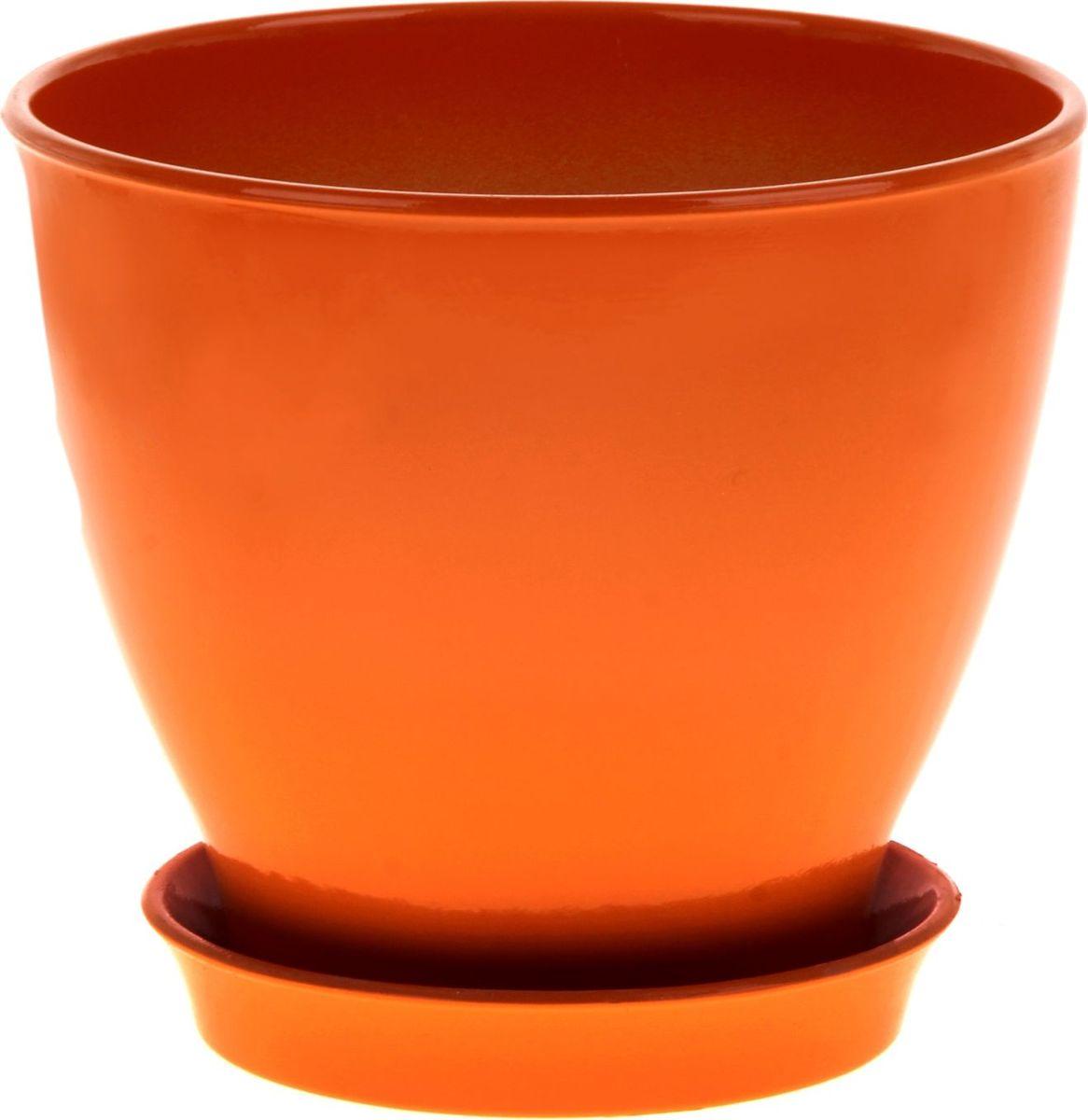 Кашпо Керамика ручной работы Ксения. Глянец, цвет: оранжевый, 3 л825141Кашпо серии «Каменный цветок» выполнено из белой глины методом формовки и покрыто лаком. Керамическая ёмкость имеет объём, оптимальный для создания наилучших условий развития большинства растений.Устойчивый глубокий поддон защитит поверхность стола или подставки от жидкости.Благодаря строгим стандартам производства изделия отличаются правильной формой, отсутствием дефектов, имеют достаточную тяжесть для надёжной фиксации конструкции.Окраска моделей не восприимчива к прямым солнечным лучам, а в цветовой гамме преобладают яркие и насыщенные оттенки.Красота, удобство и долговечность кашпо серии «Каменный цветок» порадует любителей высококачественных аксессуаров для комнатных растений.