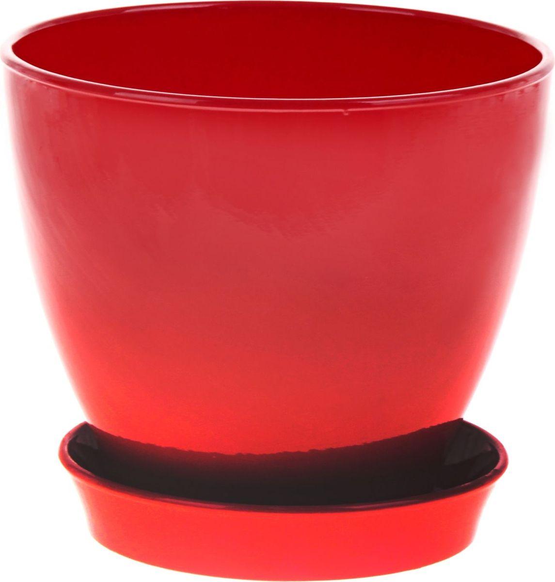 Кашпо Керамика ручной работы Ксения. Глянец, цвет: красный, 5,25 л825186Кашпо серии «Каменный цветок» выполнено из белой глины методом формовки и покрыто лаком. Керамическая ёмкость имеет объём, оптимальный для создания наилучших условий развития большинства растений.Устойчивый глубокий поддон защитит поверхность стола или подставки от жидкости.Благодаря строгим стандартам производства изделия отличаются правильной формой, отсутствием дефектов, имеют достаточную тяжесть для надёжной фиксации конструкции.Окраска моделей не восприимчива к прямым солнечным лучам, а в цветовой гамме преобладают яркие и насыщенные оттенки.Красота, удобство и долговечность кашпо серии «Каменный цветок» порадует любителей высококачественных аксессуаров для комнатных растений.
