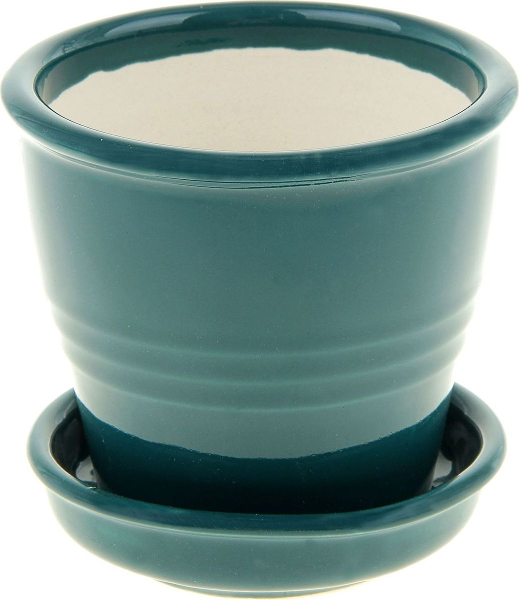 Кашпо Керамика ручной работы Классик, цвет: хром, 230 мл835549Комнатные растения - всеобщие любимцы. Они радуют глаз, насыщают помещение кислородом и украшают пространство. Каждому из них необходим свой удобный и красивый дом.Кашпо из керамики прекрасно подходит для высадки растений: за счёт пластичности глины и разных способов обработки существует великое множество форм и дизайнов, пористый материал позволяет испаряться лишней влаге, воздух, необходимый для дыхания корней, проникает сквозь керамические стенки! Изделие освежит интерьер и подчеркнёт его стиль.