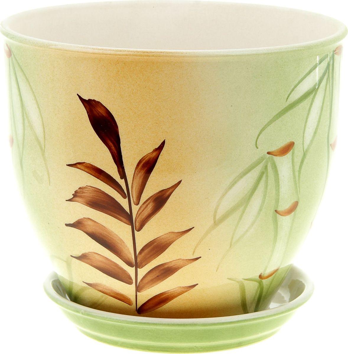 Кашпо Керамика ручной работы Виктор. Бамбук, цвет: зеленый, 4 л835550Комнатные растения — всеобщие любимцы. Они радуют глаз, насыщают помещение кислородом и украшают пространство. Каждому из них необходим свой удобный и красивый дом. Кашпо из керамики прекрасно подходят для высадки растений: за счёт пластичности глины и разных способов обработки существует великое множество форм и дизайновпористый материал позволяет испаряться лишней влагевоздух, необходимый для дыхания корней, проникает сквозь керамические стенки! #name# позаботится о зелёном питомце, освежит интерьер и подчеркнёт его стиль.
