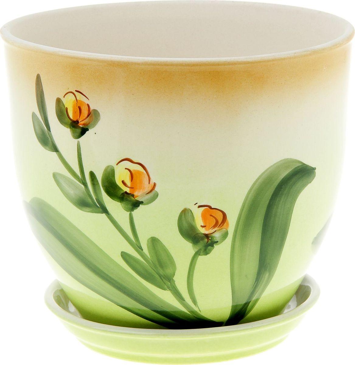 Кашпо Керамика ручной работы Виктор. Бутоны, 4 л835563Комнатные растения — всеобщие любимцы. Они радуют глаз, насыщают помещение кислородом и украшают пространство. Каждому из них необходим свой удобный и красивый дом. Кашпо из керамики прекрасно подходят для высадки растений: за счёт пластичности глины и разных способов обработки существует великое множество форм и дизайновпористый материал позволяет испаряться лишней влагевоздух, необходимый для дыхания корней, проникает сквозь керамические стенки! #name# позаботится о зелёном питомце, освежит интерьер и подчеркнёт его стиль.
