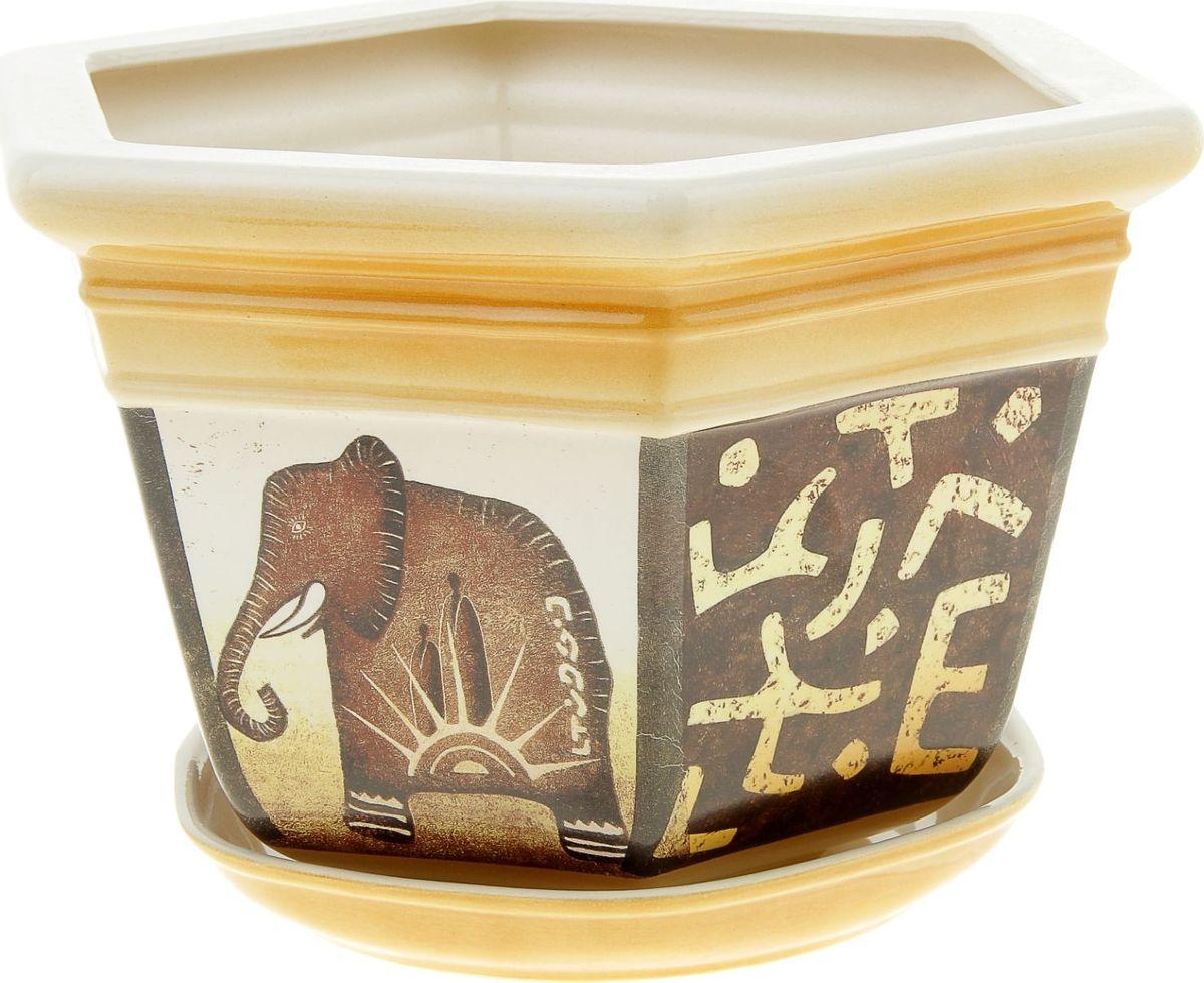 Кашпо Керамика ручной работы Греция. Слон, 4 л835578