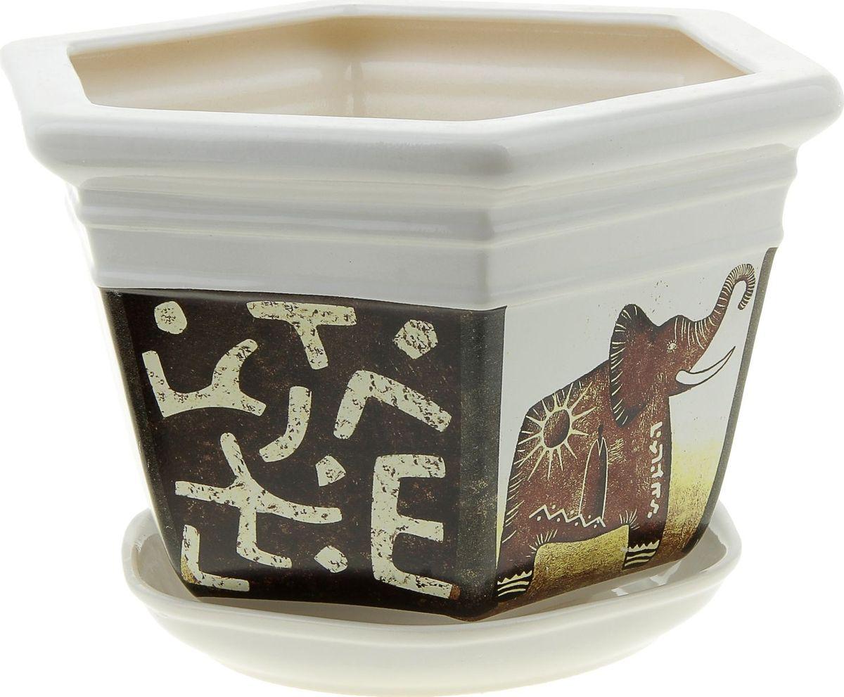 Кашпо Керамика ручной работы Греция. Слон, цвет: белый, 4 л835579Комнатные растения — всеобщие любимцы. Они радуют глаз, насыщают помещение кислородом и украшают пространство. Каждому из них необходим свой удобный и красивый дом. Кашпо из керамики прекрасно подходят для высадки растений: за счёт пластичности глины и разных способов обработки существует великое множество форм и дизайновпористый материал позволяет испаряться лишней влагевоздух, необходимый для дыхания корней, проникает сквозь керамические стенки! #name# позаботится о зелёном питомце, освежит интерьер и подчеркнёт его стиль.