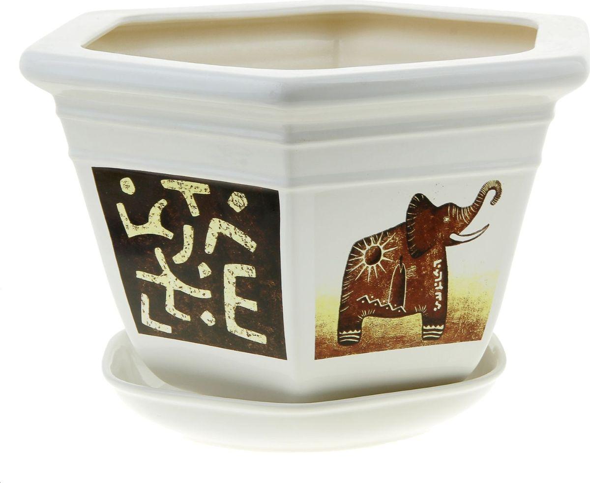 Кашпо Керамика ручной работы Греция. Слон, цвет: белый, 6 л835585Комнатные растения — всеобщие любимцы. Они радуют глаз, насыщают помещение кислородом и украшают пространство. Каждому из них необходим свой удобный и красивый дом. Кашпо из керамики прекрасно подходят для высадки растений: за счёт пластичности глины и разных способов обработки существует великое множество форм и дизайновпористый материал позволяет испаряться лишней влагевоздух, необходимый для дыхания корней, проникает сквозь керамические стенки! #name# позаботится о зелёном питомце, освежит интерьер и подчеркнёт его стиль.