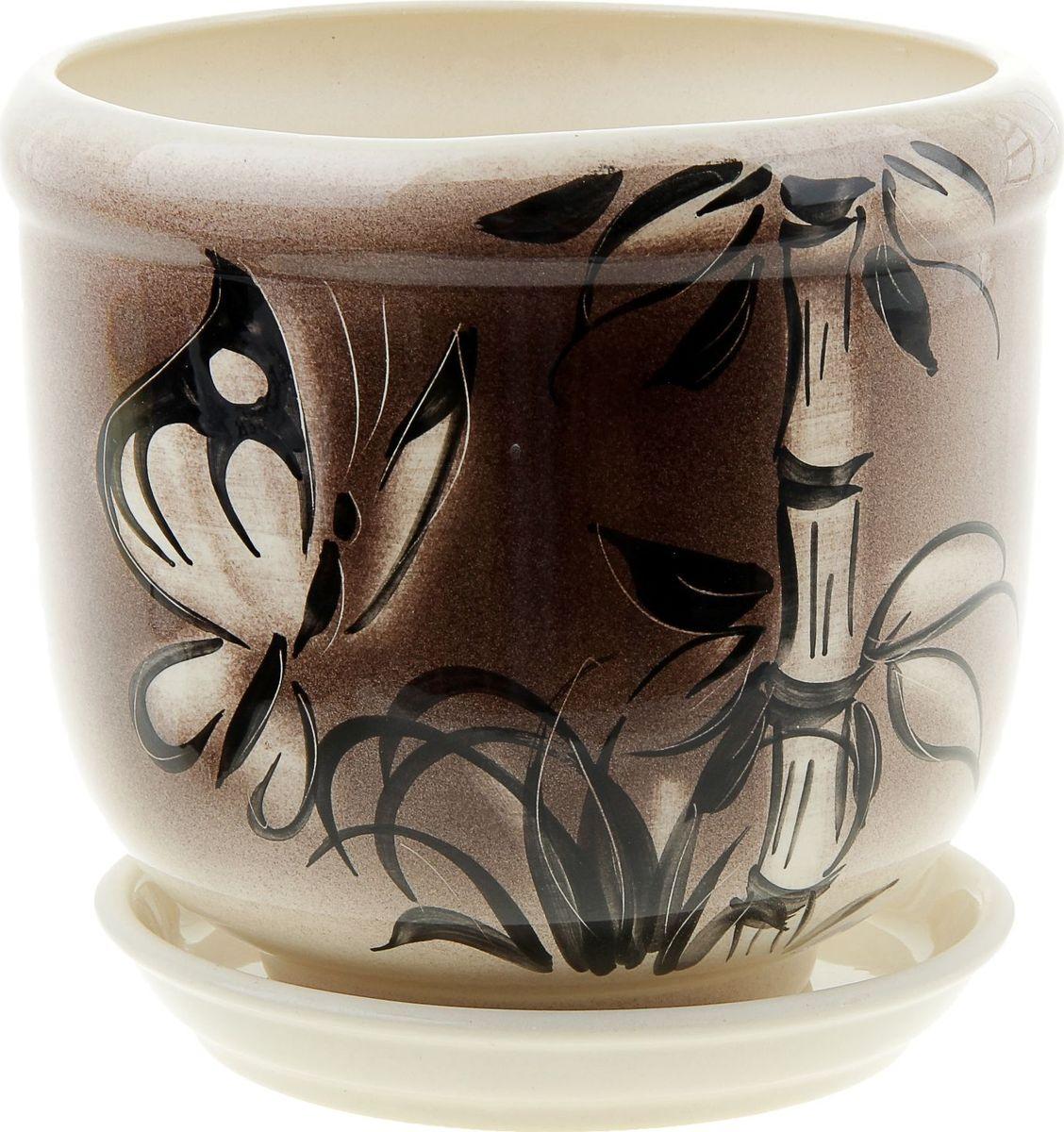Кашпо Керамика ручной работы Ривьера. Мотылек, 2,4 л835587Комнатные растения — всеобщие любимцы. Они радуют глаз, насыщают помещение кислородом и украшают пространство. Каждому из них необходим свой удобный и красивый дом. Кашпо из керамики прекрасно подходят для высадки растений: за счёт пластичности глины и разных способов обработки существует великое множество форм и дизайновпористый материал позволяет испаряться лишней влагевоздух, необходимый для дыхания корней, проникает сквозь керамические стенки! #name# позаботится о зелёном питомце, освежит интерьер и подчеркнёт его стиль.