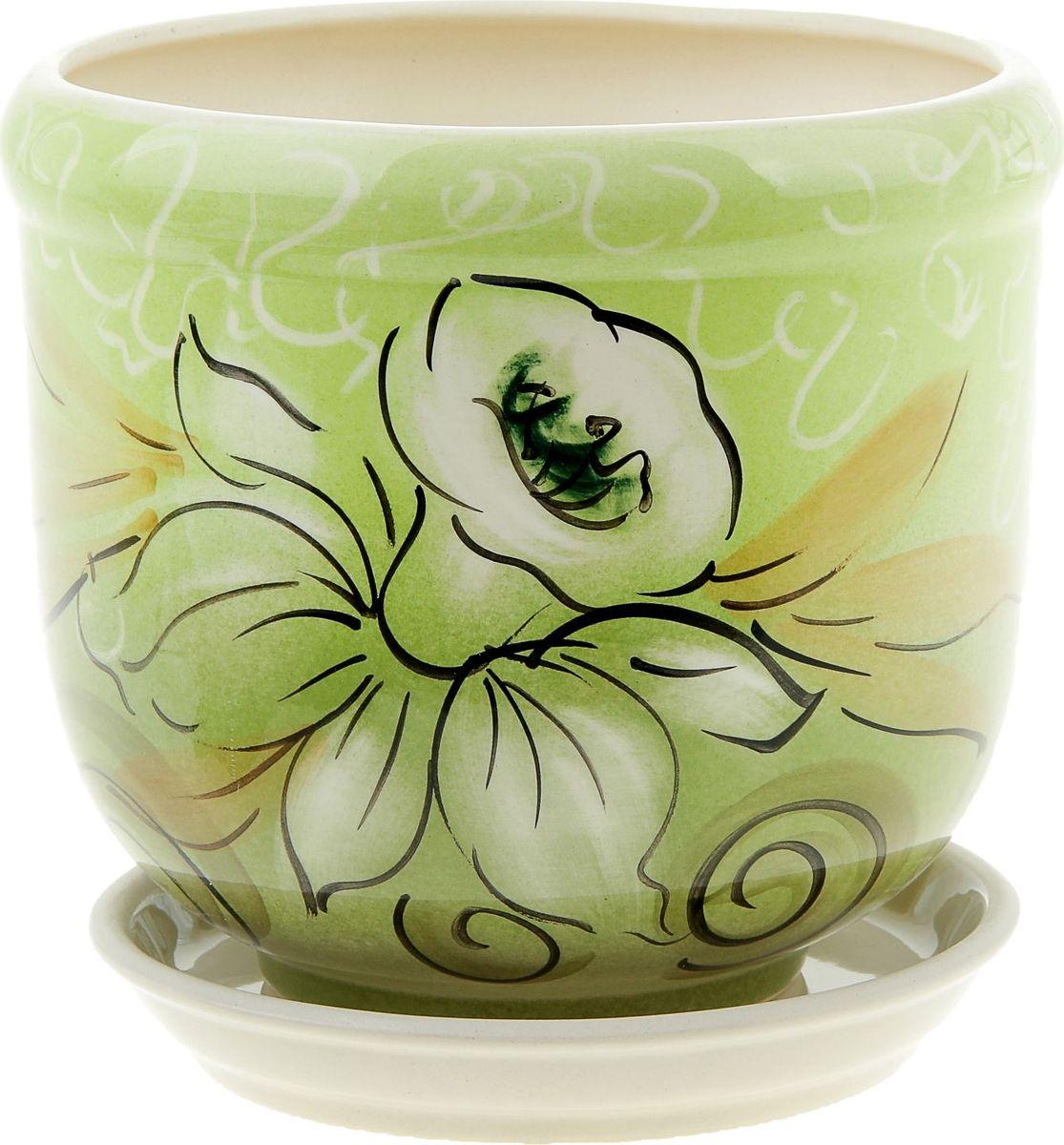 Кашпо Керамика ручной работы Ривьера. Нарцисс, 2,4 л835588Комнатные растения — всеобщие любимцы. Они радуют глаз, насыщают помещение кислородом и украшают пространство. Каждому из них необходим свой удобный и красивый дом. Кашпо из керамики прекрасно подходят для высадки растений: за счёт пластичности глины и разных способов обработки существует великое множество форм и дизайновпористый материал позволяет испаряться лишней влагевоздух, необходимый для дыхания корней, проникает сквозь керамические стенки! #name# позаботится о зелёном питомце, освежит интерьер и подчеркнёт его стиль.