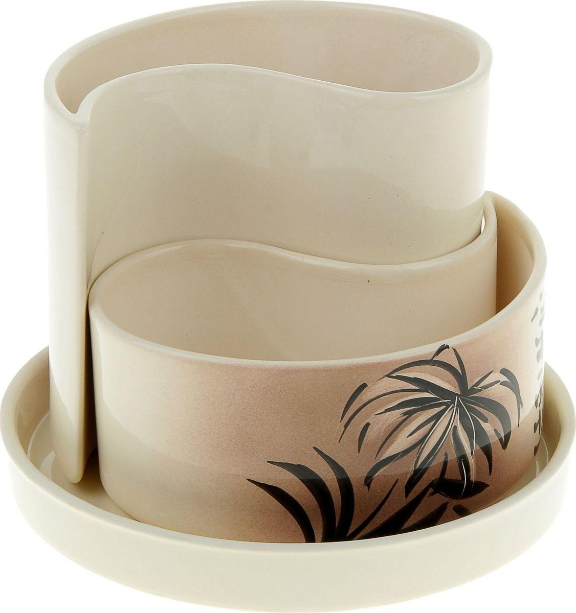 Набор кашпо Керамика ручной работы Капля. Мотылек, 2 предмета835597Комнатные растения — всеобщие любимцы. Они радуют глаз, насыщают помещение кислородом и украшают пространство. Каждому из них необходим свой удобный и красивый дом. Кашпо из керамики прекрасно подходят для высадки растений: за счёт пластичности глины и разных способов обработки существует великое множество форм и дизайновпористый материал позволяет испаряться лишней влагевоздух, необходимый для дыхания корней, проникает сквозь керамические стенки! #name# позаботится о зелёном питомце, освежит интерьер и подчеркнёт его стиль.