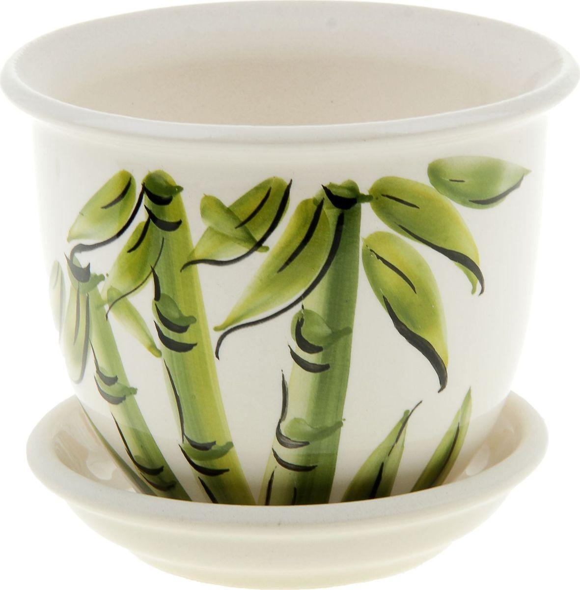Кашпо Керамика ручной работы Классик. Бамбук, цвет: белый, 0,5 л835600Комнатные растения — всеобщие любимцы. Они радуют глаз, насыщают помещение кислородом и украшают пространство. Каждому из них необходим свой удобный и красивый дом. Кашпо из керамики прекрасно подходят для высадки растений: за счёт пластичности глины и разных способов обработки существует великое множество форм и дизайновпористый материал позволяет испаряться лишней влагевоздух, необходимый для дыхания корней, проникает сквозь керамические стенки! #name# позаботится о зелёном питомце, освежит интерьер и подчеркнёт его стиль.