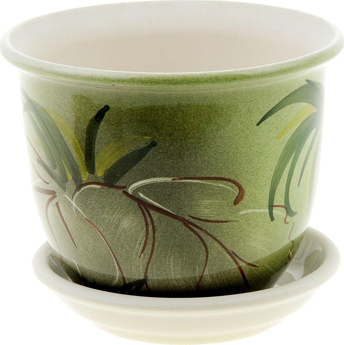 Кашпо Керамика ручной работы Классик. Баунти, 0,5 л835602Комнатные растения — всеобщие любимцы. Они радуют глаз, насыщают помещение кислородом и украшают пространство. Каждому из них необходим свой удобный и красивый дом. Кашпо из керамики прекрасно подходят для высадки растений: за счет пластичности глины и разных способов обработки существует великое множество форм и дизайнов пористый материал позволяет испаряться лишней влаге воздух, необходимый для дыхания корней, проникает сквозь керамические стенки! позаботится о зеленом питомце, освежит интерьер и подчеркнет его стиль.