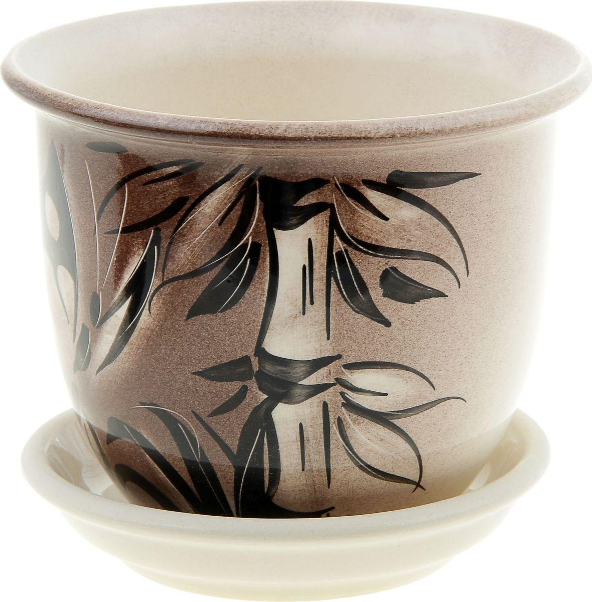Кашпо Керамика ручной работы Классик. Мотылек, 0,5 л835604Комнатные растения — всеобщие любимцы. Они радуют глаз, насыщают помещение кислородом и украшают пространство. Каждому из них необходим свой удобный и красивый дом. Кашпо из керамики прекрасно подходят для высадки растений: за счёт пластичности глины и разных способов обработки существует великое множество форм и дизайновпористый материал позволяет испаряться лишней влагевоздух, необходимый для дыхания корней, проникает сквозь керамические стенки! #name# позаботится о зелёном питомце, освежит интерьер и подчеркнёт его стиль.
