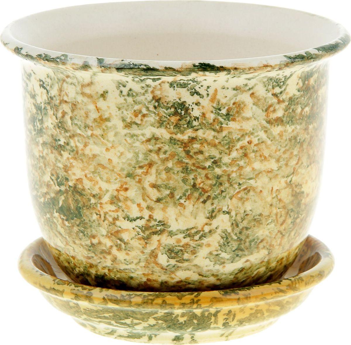 Кашпо Керамика ручной работы Классик. Мрамор, 0,5 л835605Комнатные растения — всеобщие любимцы. Они радуют глаз, насыщают помещение кислородом и украшают пространство. Каждому из них необходим свой удобный и красивый дом. Кашпо из керамики прекрасно подходят для высадки растений: за счет пластичности глины и разных способов обработки существует великое множество форм и дизайнов пористый материал позволяет испаряться лишней влаге воздух, необходимый для дыхания корней, проникает сквозь керамические стенки! позаботится о зеленом питомце, освежит интерьер и подчеркнет его стиль.
