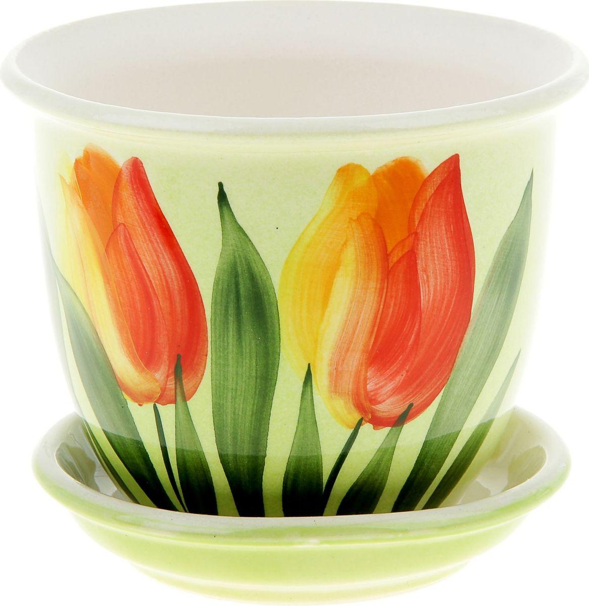 Кашпо Керамика ручной работы Классик. Тюльпан, цвет: красный, 0,5 л835612Комнатные растения — всеобщие любимцы. Они радуют глаз, насыщают помещение кислородом и украшают пространство. Каждому из них необходим свой удобный и красивый дом. Кашпо из керамики прекрасно подходят для высадки растений: за счёт пластичности глины и разных способов обработки существует великое множество форм и дизайновпористый материал позволяет испаряться лишней влагевоздух, необходимый для дыхания корней, проникает сквозь керамические стенки! #name# позаботится о зелёном питомце, освежит интерьер и подчеркнёт его стиль.