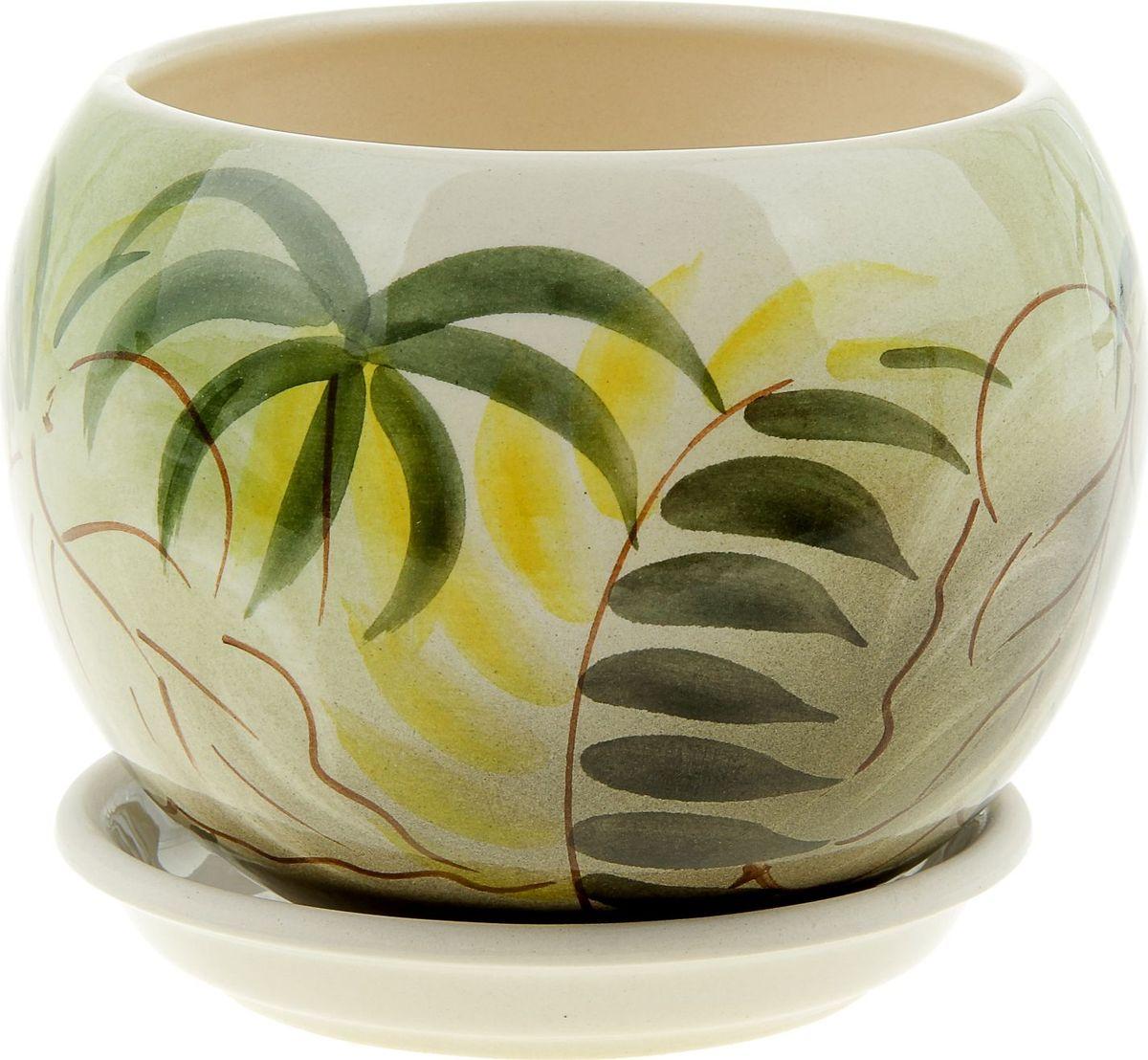 Кашпо Керамика ручной работы Шар. Баунти, 1,4 л835638Комнатные растения — всеобщие любимцы. Они радуют глаз, насыщают помещение кислородом и украшают пространство. Каждому из них необходим свой удобный и красивый дом. Кашпо из керамики прекрасно подходят для высадки растений: за счет пластичности глины и разных способов обработки существует великое множество форм и дизайнов пористый материал позволяет испаряться лишней влаге воздух, необходимый для дыхания корней, проникает сквозь керамические стенки! позаботится о зеленом питомце, освежит интерьер и подчеркнет его стиль.