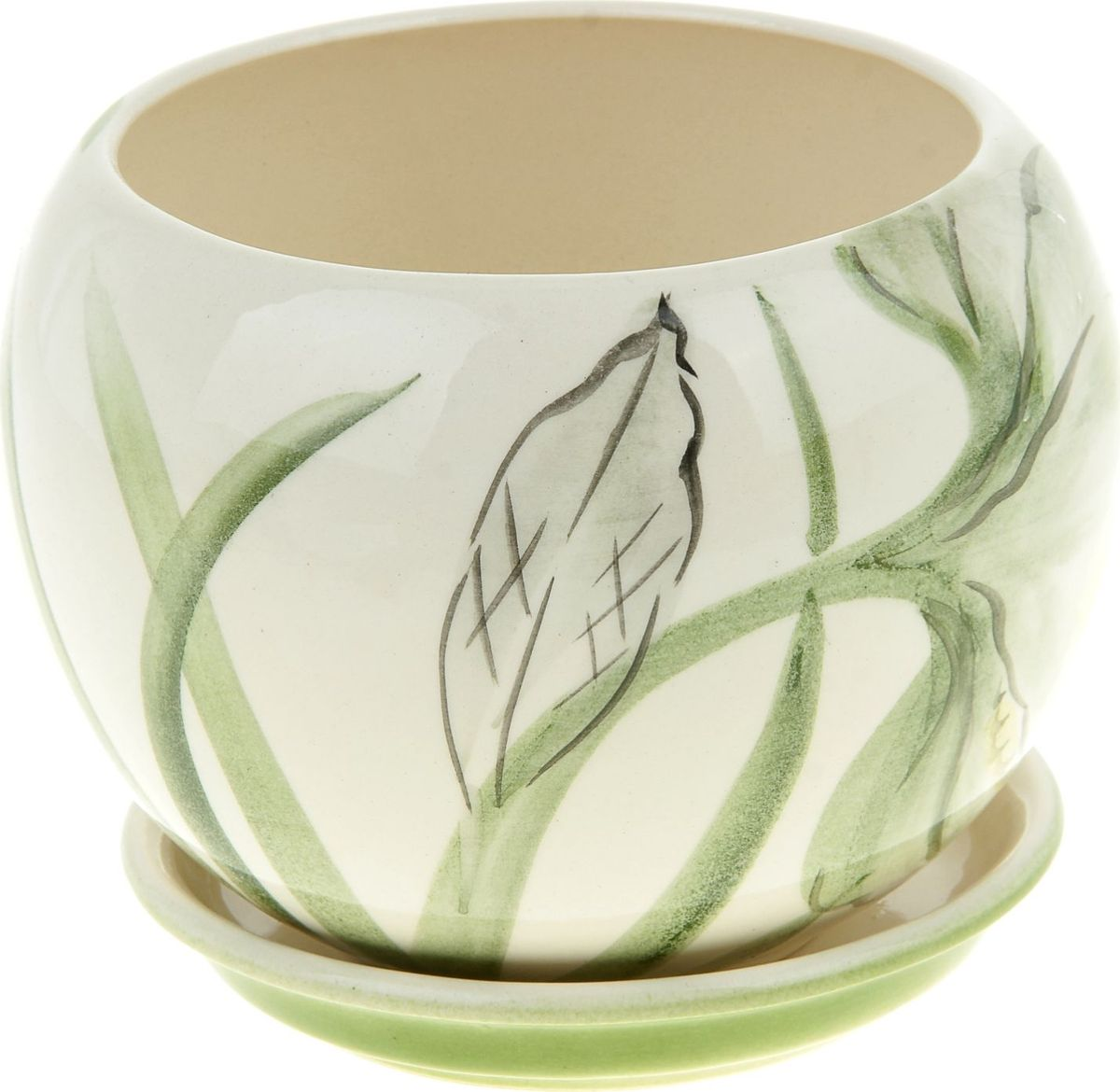 Кашпо Керамика ручной работы Шар. Нарцисс, цвет: белый, 1,4 л835641Комнатные растения - всеобщие любимцы. Они радуют глаз, насыщают помещение кислородом и украшают пространство. Каждому из них необходим свой удобный и красивый дом. Кашпо из керамики прекрасно подходят для высадки растений:- пористый материал позволяет испаряться лишней влаге;- воздух, необходимый для дыхания корней, проникает сквозь керамические стенки. Кашпо Шар. Нарцисс позаботится о зеленом питомце, освежит интерьер и подчеркнет его стиль.