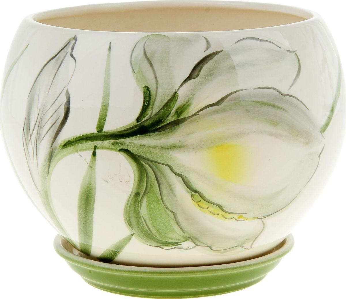 Кашпо Керамика ручной работы Шар. Нарцисс, цвет: белый, 4,1 л835648Комнатные растения — всеобщие любимцы. Они радуют глаз, насыщают помещение кислородом и украшают пространство. Каждому из них необходим свой удобный и красивый дом. Кашпо из керамики прекрасно подходят для высадки растений: за счет пластичности глины и разных способов обработки существует великое множество форм и дизайнов пористый материал позволяет испаряться лишней влаге воздух, необходимый для дыхания корней, проникает сквозь керамические стенки! позаботится о зеленом питомце, освежит интерьер и подчеркнет его стиль.