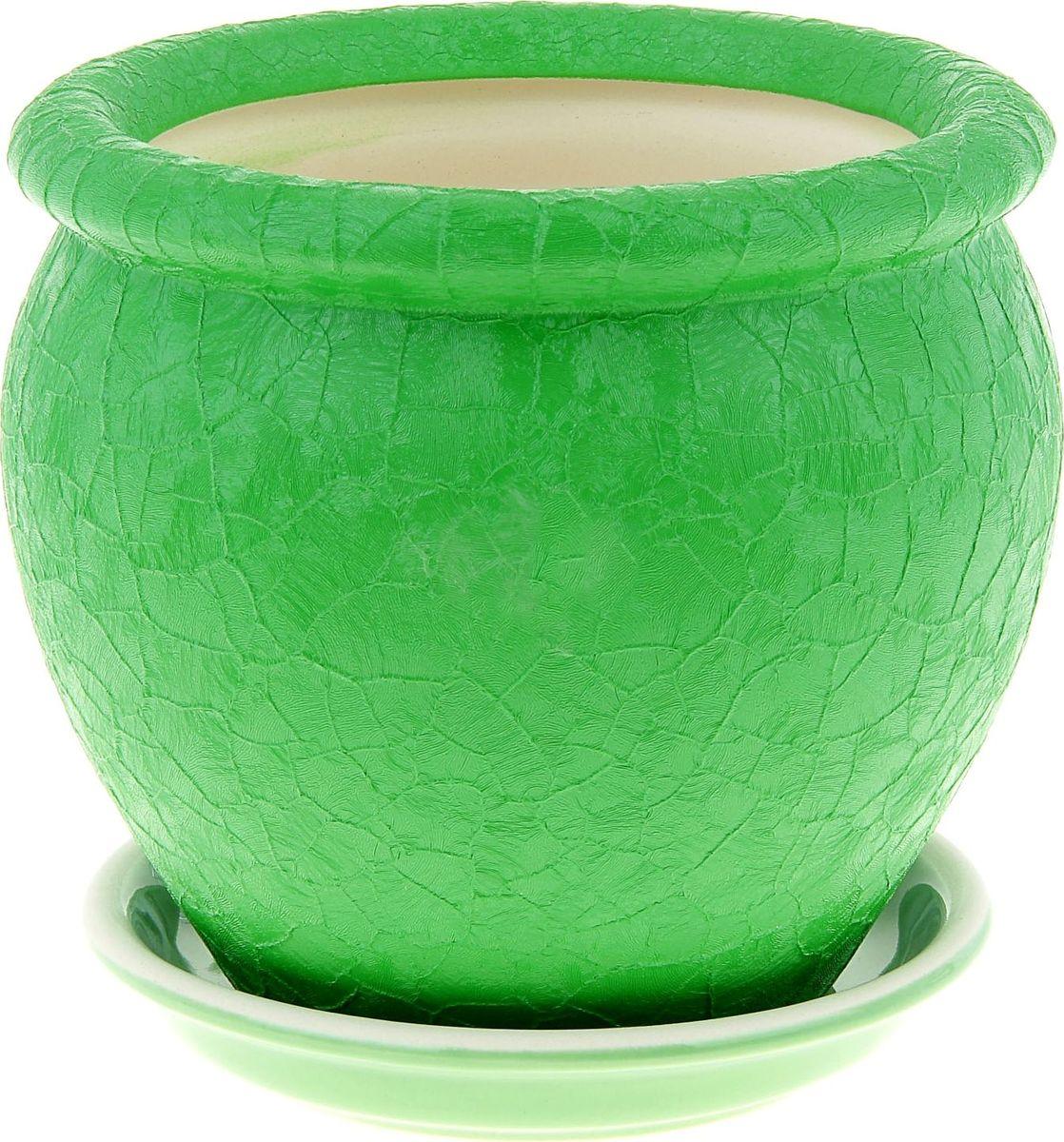 Кашпо Керамика ручной работы Вьетнам, цвет: зеленый, 1,5 л835668Комнатные растения — всеобщие любимцы. Они радуют глаз, насыщают помещение кислородом и украшают пространство. Каждому из них необходим свой удобный и красивый дом. Кашпо из керамики прекрасно подходят для высадки растений: за счёт пластичности глины и разных способов обработки существует великое множество форм и дизайновпористый материал позволяет испаряться лишней влагевоздух, необходимый для дыхания корней, проникает сквозь керамические стенки! #name# позаботится о зелёном питомце, освежит интерьер и подчеркнёт его стиль.