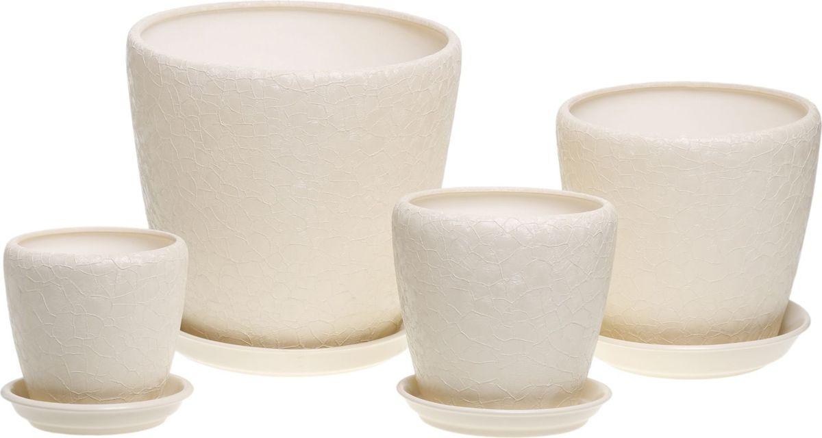 Набор кашпо Керамика ручной работы Грация, цвет: бежевый, 4 предмета835673Комнатные растения — всеобщие любимцы. Они радуют глаз, насыщают помещение кислородом и украшают пространство. Каждому из них необходим свой удобный и красивый дом. Кашпо из керамики прекрасно подходят для высадки растений: за счёт пластичности глины и разных способов обработки существует великое множество форм и дизайновпористый материал позволяет испаряться лишней влагевоздух, необходимый для дыхания корней, проникает сквозь керамические стенки! #name# позаботится о зелёном питомце, освежит интерьер и подчеркнёт его стиль.