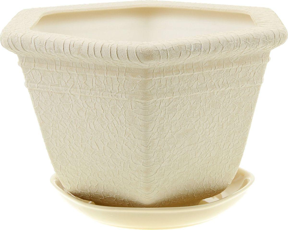 Кашпо Керамика ручной работы Греция, цвет: бежевый, 6 л835685Комнатные растения — всеобщие любимцы. Они радуют глаз, насыщают помещение кислородом и украшают пространство. Каждому из них необходим свой удобный и красивый дом. Кашпо из керамики прекрасно подходят для высадки растений: за счет пластичности глины и разных способов обработки существует великое множество форм и дизайнов пористый материал позволяет испаряться лишней влаге воздух, необходимый для дыхания корней, проникает сквозь керамические стенки! позаботится о зеленом питомце, освежит интерьер и подчеркнет его стиль.