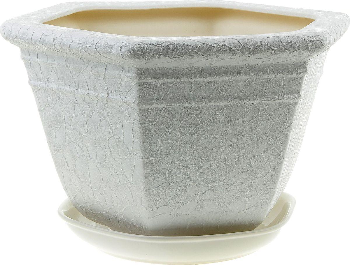 Кашпо Керамика ручной работы Греция, цвет: белый, 6 л835686Комнатные растения — всеобщие любимцы. Они радуют глаз, насыщают помещение кислородом и украшают пространство. Каждому из них необходим свой удобный и красивый дом. Кашпо из керамики прекрасно подходят для высадки растений: за счет пластичности глины и разных способов обработки существует великое множество форм и дизайнов пористый материал позволяет испаряться лишней влаге воздух, необходимый для дыхания корней, проникает сквозь керамические стенки! позаботится о зеленом питомце, освежит интерьер и подчеркнет его стиль.