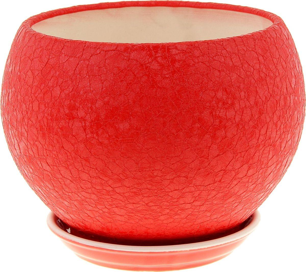 Кашпо Керамика ручной работы Шар, цвет: красный, 4,1 л835709Комнатные растения — всеобщие любимцы. Они радуют глаз, насыщают помещение кислородом и украшают пространство. Каждому из них необходим свой удобный и красивый дом. Кашпо из керамики прекрасно подходят для высадки растений: за счёт пластичности глины и разных способов обработки существует великое множество форм и дизайновпористый материал позволяет испаряться лишней влагевоздух, необходимый для дыхания корней, проникает сквозь керамические стенки! #name# позаботится о зелёном питомце, освежит интерьер и подчеркнёт его стиль.