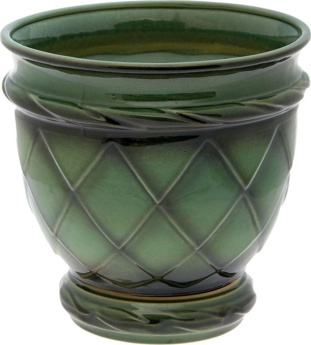Кашпо Ромб, цвет: зеленый, 9 л839942