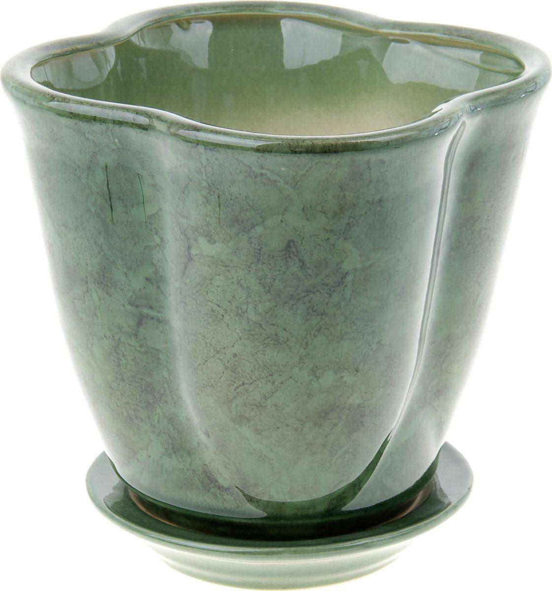 Кашпо Дези, цвет: зеленый, 3,5 л840151