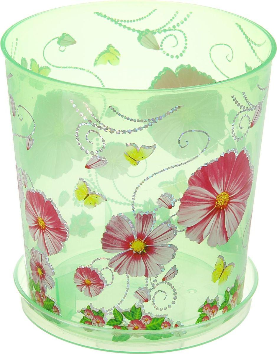 Горшок Альтернатива Камилла, для орхидеи, с поддоном, цвет: прозрачный, зеленый, 1,8 л865717Горшок для цветов Альтернатива Камилла изготовлен из качественного пластика и оснащен поддоном для стока воды. Изделие прекрасно подойдет для выращивания растений дома и на приусадебных участках. Размеры изделия: 13,5 x 13,5 x 15 см.