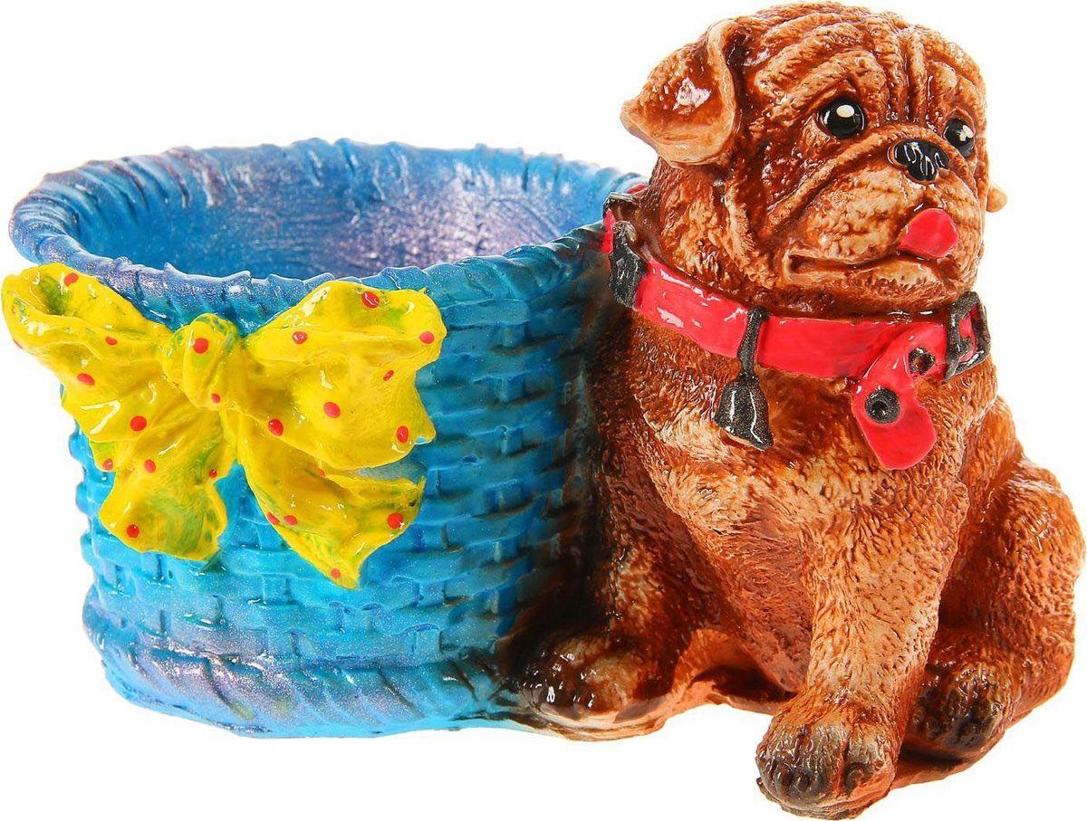 Кашпо Бульдог, цвет: коричневый, голубой, желтый, 18 х 12 х 10 см867960Комнатные растения — всеобщие любимцы. Они радуют глаз, насыщают помещение кислородом и украшают пространство. Каждому из растений необходим свой удобный и красивый дом. Поселите зелёного питомца в яркое и оригинальное фигурное кашпо Бульдог. Кашпо Бульдог позаботится о растении, украсит окружающее пространство и подчеркнёт его оригинальный стиль. Размер: 18 х 12 х 10 см.